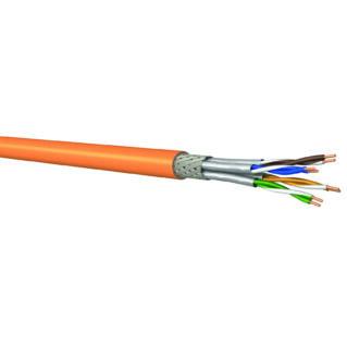 HUBER+SUHNER KYPROS Category 7A S/FTP 1000MHz fali kábel, 4 érpáras, 23 AWG, LSFH, narancssárga, 500 méter/dob, CPR Eca