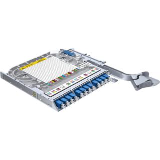 HUBER+SUHNER LISA Side Access rendezőkazetta, 24xLC/PC port, SM 9/125, hegesztés-patchelés kivitel
