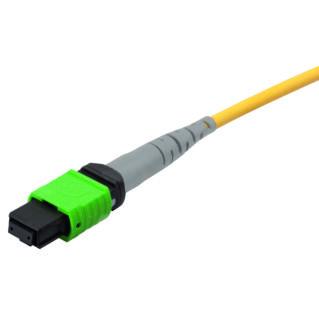 HUBER+SUHNER MTP8 female - MTP8 female jumper kábel, SM APC 9/125 G657.A2, sárga, L=1 méter