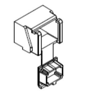 HUBER+SUHNER porvédő sapka OptiSocket optikai falidobozhoz, SC adapter alkalmazása esetén