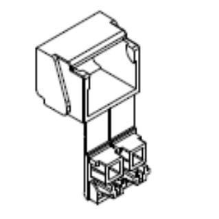 HUBER+SUHNER porvédő sapka OptiSocket optikai falidobozhoz, LC duplex adapter alkalmazása esetén