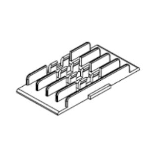HUBER+SUHNER 4-es hegesztéstartó OptiSocket optikai falidobozhoz, 45 mm-es hegesztésvédő zsugorcsőhöz