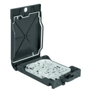 HUBER+SUHNER Optibox 4i üres optikai falidoboz, 4xLCD/SC adapter kapacitás