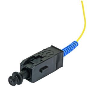 HUBER+SUHNER SC BTW szálpigtail, SM UPC 9/125 µm G.652D, sárga