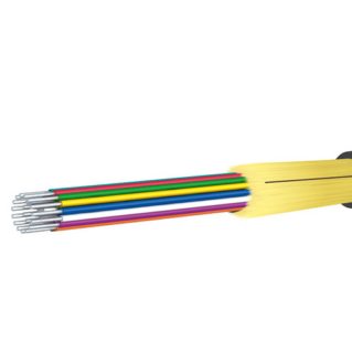 HUBER+SUHNER beltéri riser (mini-breakout) kábel, ⌀8.8 mm, 24x62.5/125µm OM1, LSFH, fekete