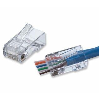 IDEAL NETWORKS Cat.5e UTP RJ45 dugó FT-45 Feed Thru RJ45 krimpelő szerszámhoz, 100 darab