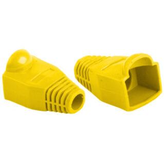 Törésgátló Rj45 dugóhoz, sárga
