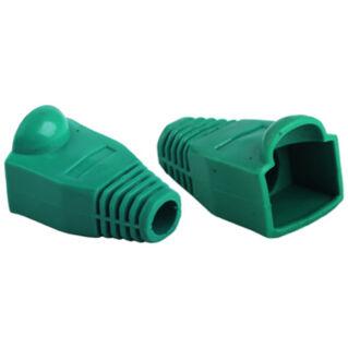 Törésgátló Rj45 dugóhoz, zöld