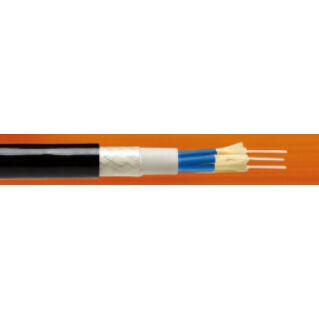 OPTRAL kültéri RRU-ANTENNA jumper kábel, FTTA, ⌀6.7 mm, 2x50/125µm OM2, LSZH, fekete