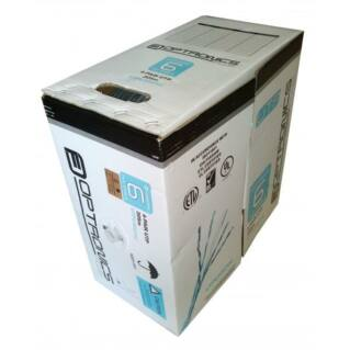 OPTRONICS Category 6 U/UTP fali kábel, szürke, PVC