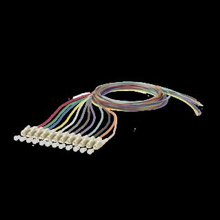 LC optikai szálpigtail szett, multimódusú OM1 62,5/125 µm, színes, L=2 méter