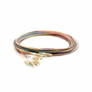 LC optikai szálpigtail szett, multimódusú OM3 50/125 µm, színes, L=2 méter