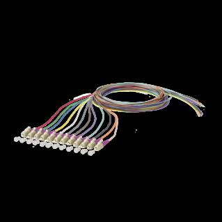 LC optikai szálpigtail szett, multimódusú OM4 50/125 µm, színes, L=2 méter