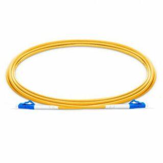 LC/PC-LC/PC szimplex optikai patch kábel, monomódusú OS2 9/125 µm, sárga, L=2 méter