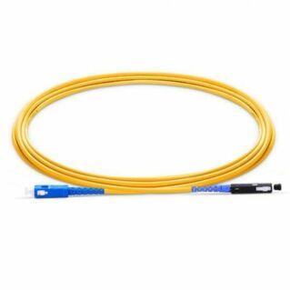 MU/PC-SC/PC szimplex optikai patch kábel, monomódusú OS2 9/125 µm, sárga, L=1 méter