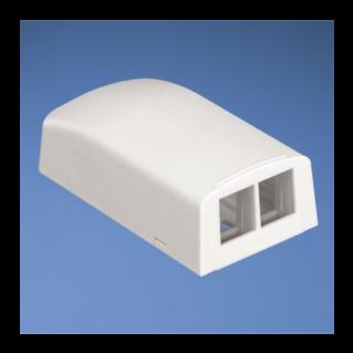 PANDUIT NetKey falon kívüli csatlakozó doboz, 2 NetKey betét fogadására, fehér