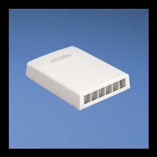 PANDUIT NetKey falon kívüli csatlakozó doboz, 6 NetKey betét fogadására, törtfehér