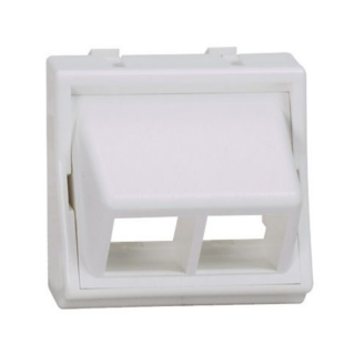 PANDUIT NetKey 45x45 adapter, 2 portos, döntött, fehér