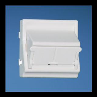 PANDUIT NetKey 45x45 adapter, 2 portos, döntött, porvédővel, fehér