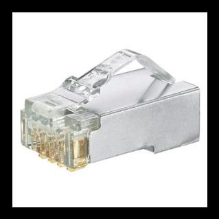 PANDUIT Pan-Plug Category 5e árnyékolt RJ45 moduláris dugó AWG24-26 fali és patch kábelekhez (tömör vagy sordrott rézvezetőhöz)