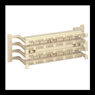 PANDUIT GP6 PLUS Category 6 punchdown kirendező alap lábazattal, üres, (96 érpáras/24 portos kapacitás)