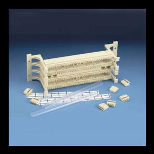 PANDUIT GP6 PLUS Category 6 nagy sűrűségű punchdown kirendező-szett lábazattal, 144 érpáras (36 portos)