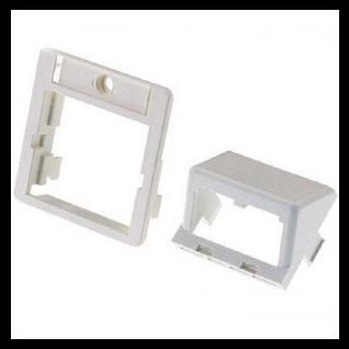 PANDUIT 50x50 adapter kit, fehér,döntött inserttel, dupla