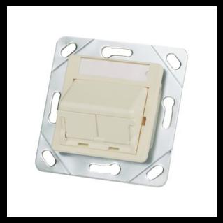 PANDUIT 50x50 adapter kit, fehér,döntött, porvédős inserttel, dupla