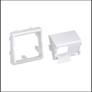 PANDUIT Mini-Com 45x45 adapter, döntött, döntött, porvédős, fehér
