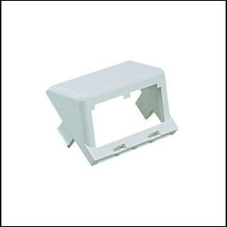 PANDUIT Mini-Com 2 modulhelyes insert, döntött, fehér