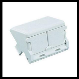 PANDUIT Mini-Com 2 modulhelyes insert, döntött, porvédős, fehér