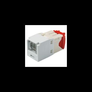 PANDUIT Mini-Com TX5e rugós port takaróval ellátott Category 5e UTP betét, fehér