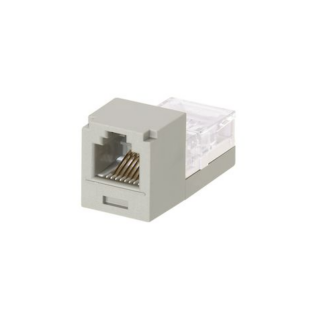 PANDUIT Mini-Com Mini-Jack Category 3 betét, 6P4C, szürke
