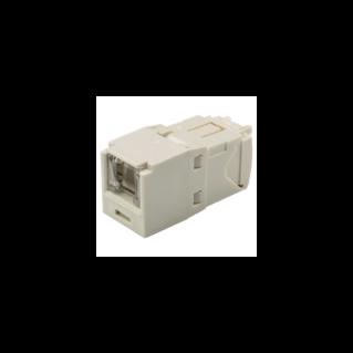 PANDUIT Mini-Com TX6 PLUS rugós port takaróval ellátott Category 6 UTP betét, fehér
