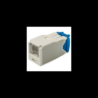 PANDUIT Mini-Com TX6A rugós port takaróval ellátott Category 6A UTP betét, fehér