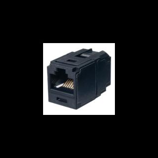 PANDUIT Mini-Com UTP coupler (toldó) betét, Category 6A, fekete