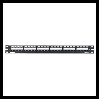 PANDUIT 24 portos Mini-Com All Metal moduláris patch panel árnyékolt betétekhez, tehermentesítővel, 1U