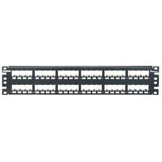PANDUIT 48 portos Mini-Com All Metal moduláris patch panel árnyékolt betétekhez, 2U