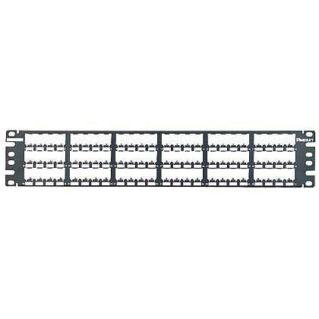 PANDUIT 72 portos Mini-Com All Metal moduláris patch panel árnyékolt betétekhez, 2U