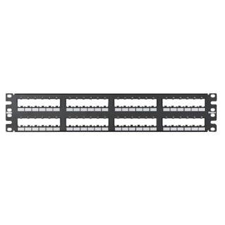 PANDUIT 48 portos Mini-Com moduláris patch panel hátulról bepattintható 6-os blokkokkal, 2U