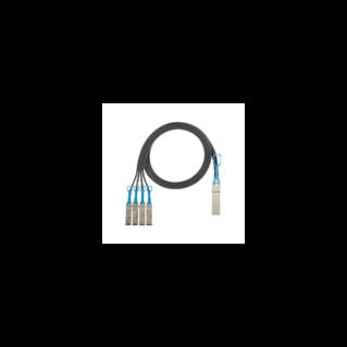 PANDUIT QSFP+/4xSFP+ nagy sebességű breakout kábel, fekete, L=1 méter