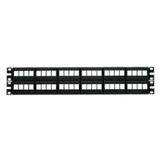 PANDUIT NetKey 48 portos moduláris faceplate patch panel keystone betétekhez, 2U