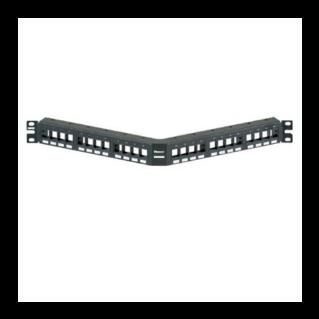 PANDUIT NetKey 24 portos döntött moduláris patch panel keystone betétekhez, 1U