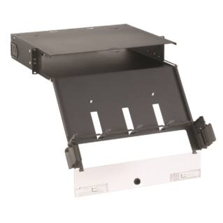 """PANDUIT Opticom QuickNet 19"""" optikai rack rendező, 2U magas, üres"""