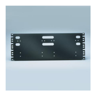 """PANDUIT 19"""" rendezőpanel Pan-Punch 110 Category 5e punchdown kirendező alapokhoz és kábelrendezőkhöz, 4U magas"""