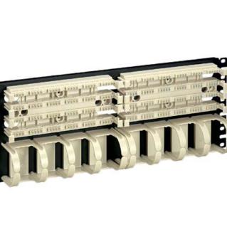 """PANDUIT Pan-Punch 110 Category 5e punchdown üres kirendező alap kábelrendezővel, 19"""" panelre szerelve, 2x100 érpáras, 4U magas"""