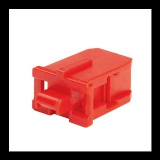 PANDUIT SC optikai port lezáró, piros