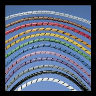 PANDUIT Spiral Wrap polietilén kábel rendező spirálcső tekercs, fekete, D=12.7 mm, L=30.5 méter