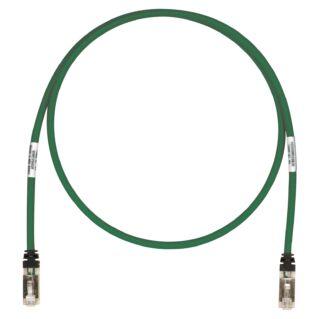 PANDUIT TX6A árnyékolt Category 6A 10Gig S/FTP patch kábel, zöld, L=0.5 méter