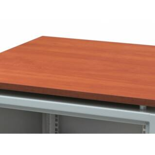 ZPAS fa tetőlap SJB 600x800 kisirodai rack szekrényhez, mahagóni